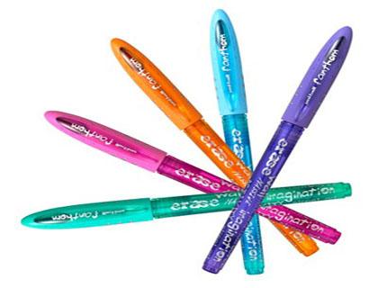 Bolígrafos tinta borrable