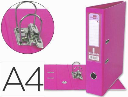 Archivador A4 lomo ancho rosa