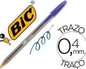 Bolígrafo Bic cristal azul, caja de 50