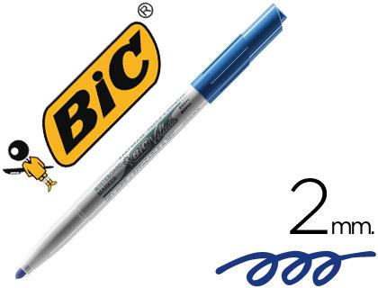 Rotulador Bic Velleda azul punta cónica