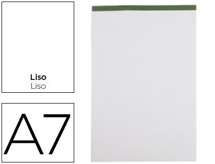 Bloc notas liderpapel liso a7 80 hojas 60 g/m2 perforado sin tapa.