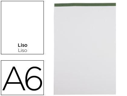 Bloc notas liderpapel liso a6 80 hojas 60 g/m2 perforado sin tapa.