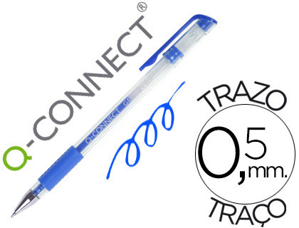 Bolígrafo económico tinta gel azul