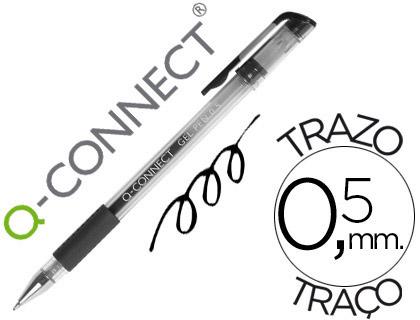 Bolígrafo económico tinta gel negro