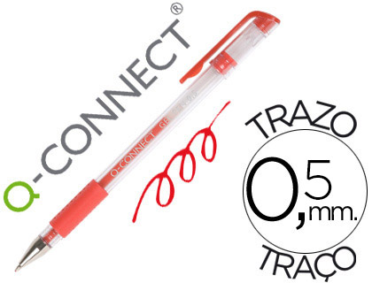 Bolígrafo económico tinta gel rojo