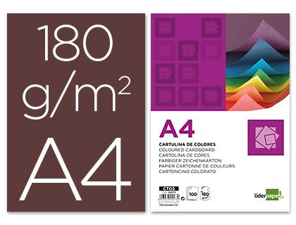 Cartulina A-4 marrón (Paquete 100 unds)