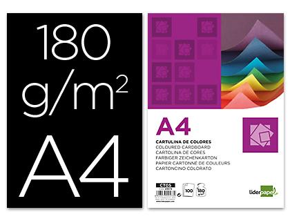 Cartulina A-4 negra (Paquete 100 unds)