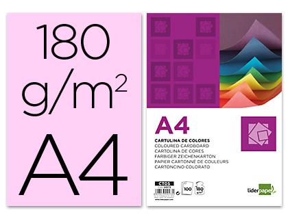 Cartulina A-4 rosa (Paquete 100 unds)