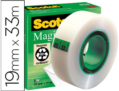 Cinta adhesiva scotch-magic 33 mt x 19 mm.