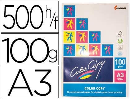 Papel para láser A-3 satinado 100 grs. Color Copy 500 hojas