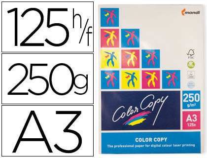 Papel para láser A-3 satinado 250 grs. Color Copy 125 hojas
