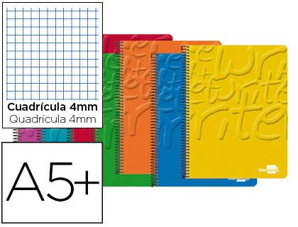 Cuaderno espiral liderpapel cuarto write tapa blanda 40h