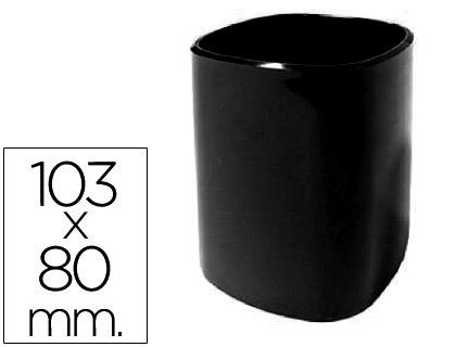 Cubilete portalapices 102-n plastico negro 103x80 mm.