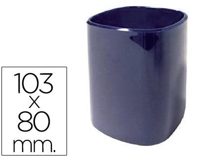 Cubilete portalapices 102-a plastico azul 103x80 mm.