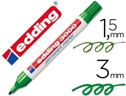 edding marcador permanente 3000 verde