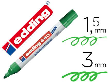 Rotulador para pizarra blanca Edding 660 verde