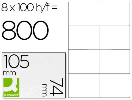 Etiqueta adhesiva q-connect kf10659 tamaño 105x74