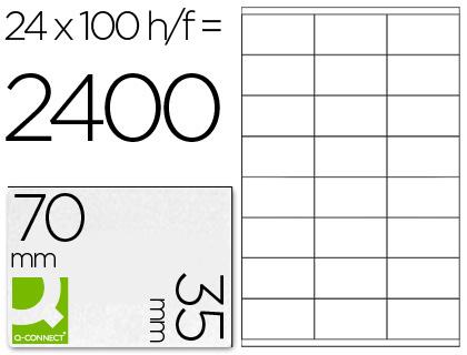 Etiqueta adhesiva q-connect tamaño 70x35