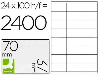 Etiqueta adhesiva q-connect tamaño 70x37