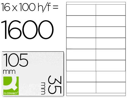 Etiqueta adhesiva q-connect kf10653 tamaño 105x35