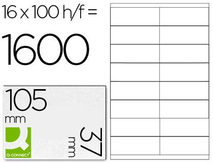 Etiquetas adhesivas económicas 105 x 37