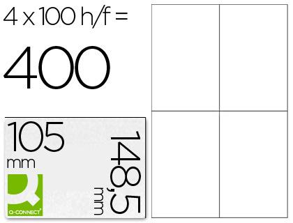Etiqueta adhesiva q-connect tamaño 105x148,5