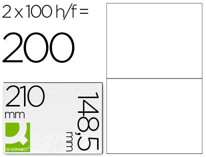 Etiqueta adhesiva q-connect tamaño 210x148,5