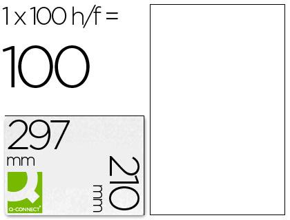 Etiqueta adhesiva q-connect tamaño 210x297