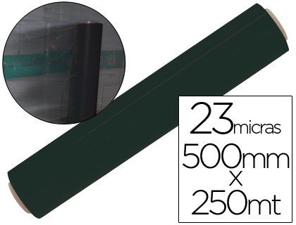 Film extensible manual bobina espesor 23 micras negro.
