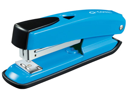 Grapadora q-connect plastico abs azul