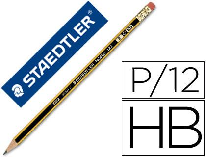 lápiz escolar con goma