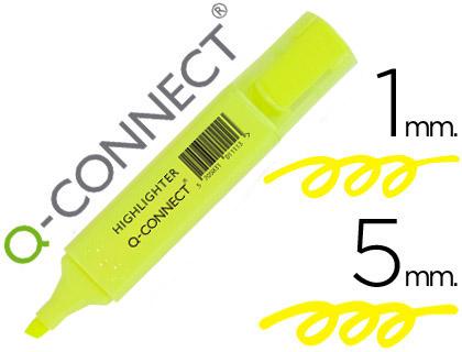 Rotulador q-connect fluorescente amarillo