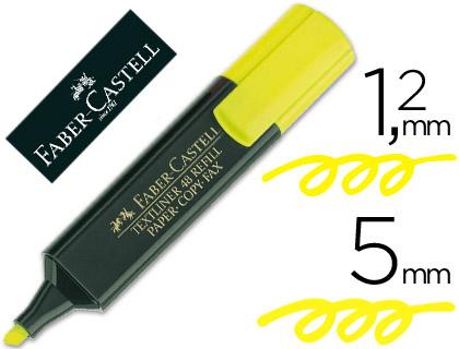 Rotulador faber fluorescente 48-07 amarillo