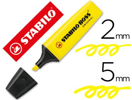 Rotulador stabilo boss fluorescente 70 amarillo