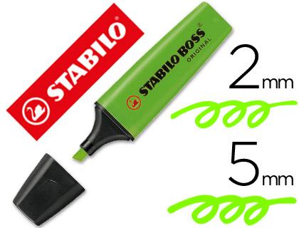 Rotulador stabilo boss fluorescente 70 verde
