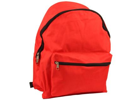 Mochila escolar color rojo práctica y también resistente