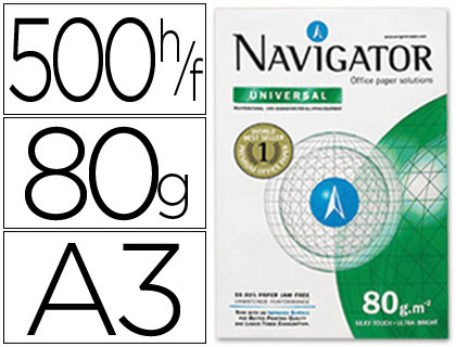 Papel A-3 80 grs Navigator paqt de 500 hojas - Loan Papelería