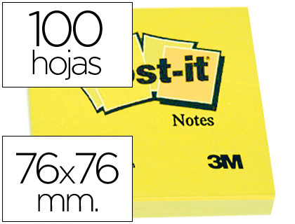 bloc de 100 notas post-it