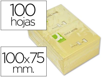 Bloc de notas adhesivas quita y pon q-connect 75x100 mm con 100 hojas.