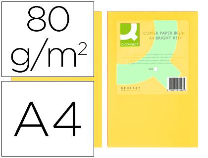 a4 80gr amarillo paquete de 500 hojas