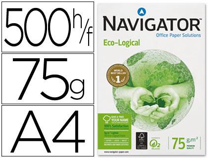 Papel reciclado Navigator A-4 75 grs caja de 5 paquetes