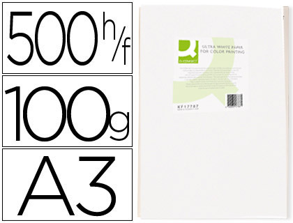 Papel para láser A-3 100 grs Q-Connect 500 hojas