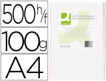 Papel para láser A-4 100 grs Q-Connect 500 hojas