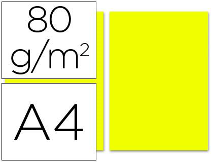 Papel amarillo limón A-4 80 grs. 100 hojas