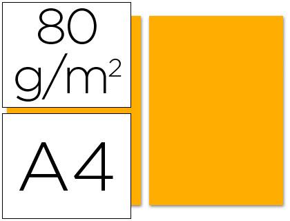 Papel naranja A-4 80 grs. 100 hojas