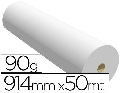 Papel reprografía para plotter 90 grs. 914 mm x 50 m