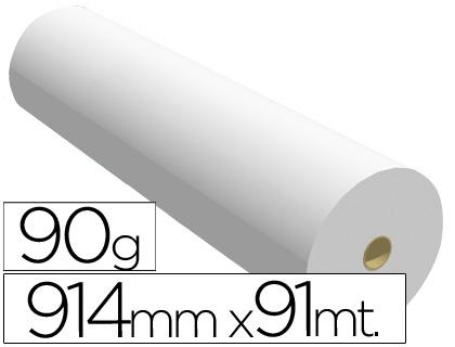 Papel reprografía para plotter 90 grs. 914 mm x 91 m
