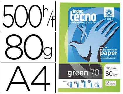 Papel reciclado A-4 80 grs Inapa Tecno caja de 5 paqt.