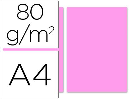 Papel rosa A-4 80 grs. 100 hojas