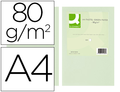 a4 80 gr verde paquete de 500 hojas
